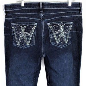 Wranger Q Baby Embellished Thick Stitch Jeans